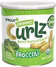 Sprout Organic Curlz Toddler Snacks, Broccoli, 1.48 Ounce Canister (1 Count) (Packaging May Vary)