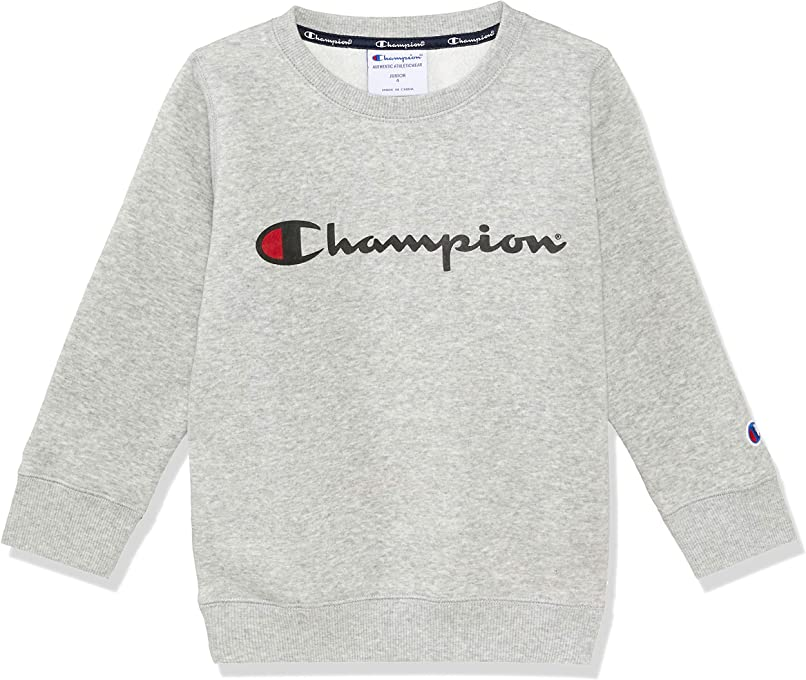 Champion Kids Script Crew Pullover Sweat
