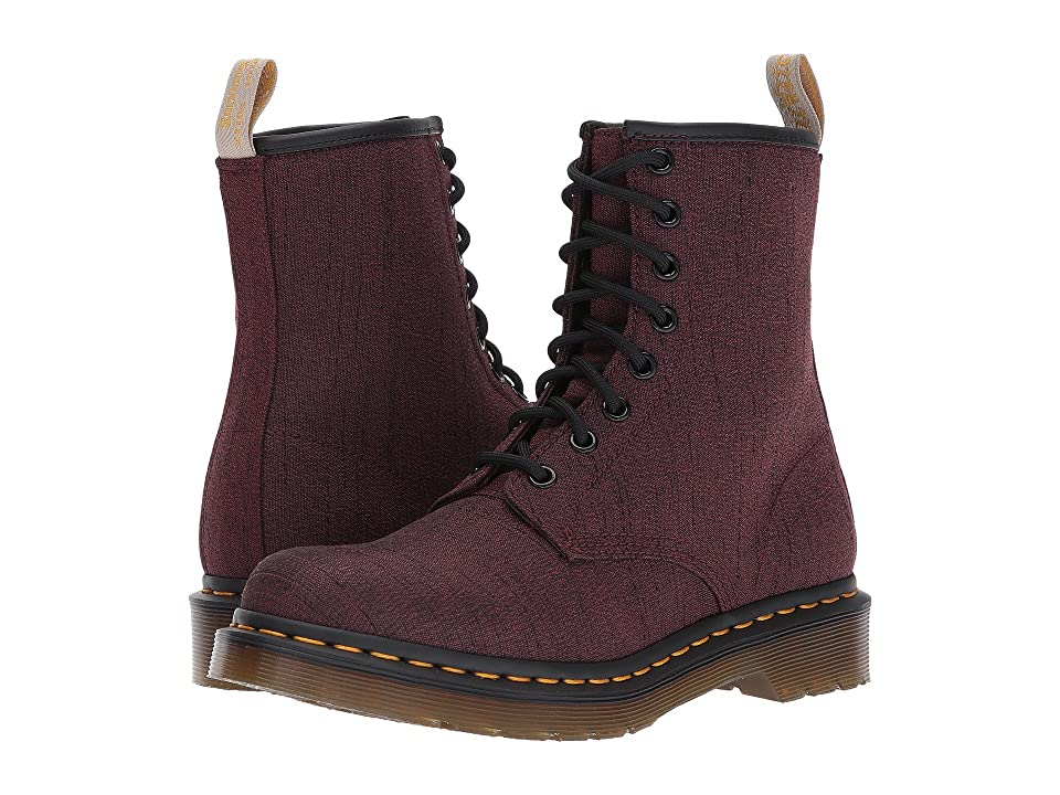 Dr. Martens Vegan Castel 8-Eye Boot (Cherry Red Serge) Women