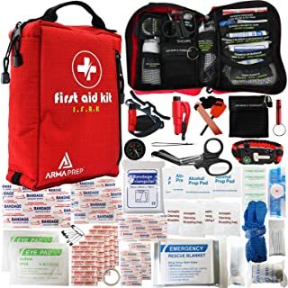 ARMAPREP Compact First Aid Kit - IFAK with Rapid Response Labels, MOLLE, Tourniquet & Survival Tools - Small First Aid Kit...