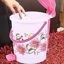 Virgin Plastic Medium Size Dustbin/Garbage Bin (Pink) KSKTC1971