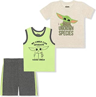 Lucasfilm Boy's 3-Pack Baby Yoda Unknown Species Tee,...