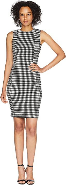 Check Print Compressions Sheath Dress CD8E5923