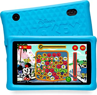 """Pebble Gear Disney Mickey and Friends kids tablet 7"""" pad with child-friendly bumpercase, kid-proof case, full parental con..."""