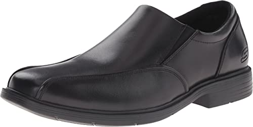 Skechers USA Hommes's Caswell Noren Slip-on Loafer, noir, 10.5 M US