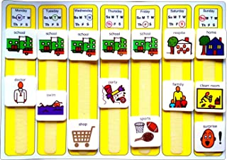 Plastic Visual ASD Weekly Planner (Picture Communication Symbols)
