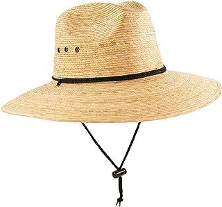 0bf8323ed0ab9 Rising Phoenix Industries Large Mexican Palm Leaf Straw Panama Safari  Cowboy Hat for Men, Adjustable