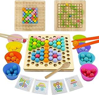Jouet Puzzle en Bois Enfant Jeux Montessori Jeu de Labyrinthe Jeu de Clip Perles Puzzle 3D Jeux Educatif Motricité Fine Ca...