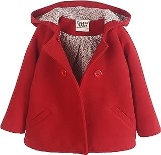 ZOEREA Girls' Woolen Fabrics Coat Double-Breasted Winter Jackets