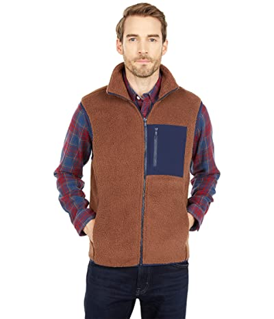The Normal Brand Henry Sherpa Vest (Brown) Men