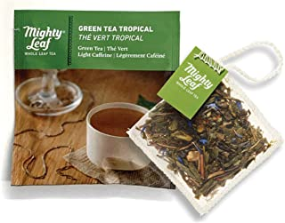 Mighty Leaf Tea Green Tea Tropical Tea Pouches, Green Tea Bags in Individual Foil Packs (Pack of 100)