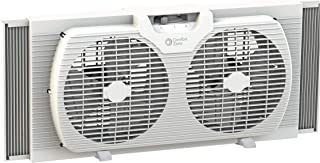 Comfort Zone CZ319WT 9-inch Twin Window Fan with Manual Reversible Airflow Control,..