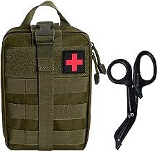 Krisvie Tactical Medizinische Notfalltasche Molle EMT Pouch and Schere für Outdoor Zuhause Sport Reisen Rip-Green
