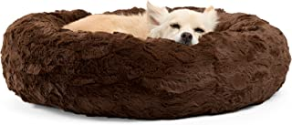 Best Friends by Sheri The Original Calming Donut Cat and Dog Bed in Lux Fur, Machine Washable, Orthopedic Relief, for Pets...