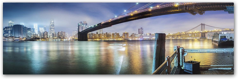 Trademark Fine Art Brooklyn Bridge Panorama by Moises Levy, 6x19Inch