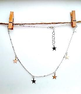 Collar de estrellas plata - gargantilla - Colgante de estrellas plata - regalo - para mujer