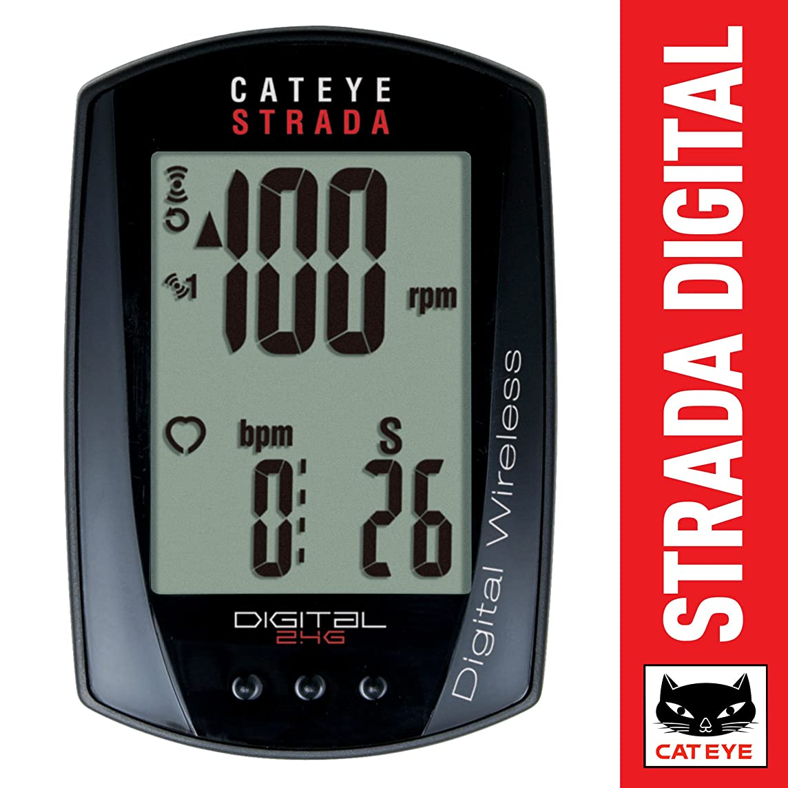 CatEye Strada Digital Wireless Bicycle Computer w/Speed/Cadence/Heart Rate - CC-RD430DW