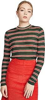 Scotch & Soda Maison Scotch Women's Striped Rib Knit Sweater