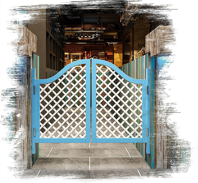QIANDA Puertas Batientes De Bisagra Cafe, Interior Madera Maciza Media Cintura Puerta De La Cerca Auto Cerrado por Pub Bar Porche Entrada Decoración, Ancho 70-140cm