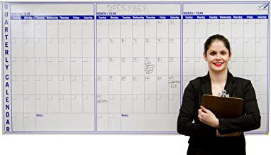 Large Dry Erase Wall Calendar 3 Month - 36 x 72 inch Big Calendar for Wall - Quarterly Office Wall Calendars