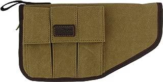 TOURBON Canvas Hand Gun Pouch Pistol Rug with Gun Accessories Pocket