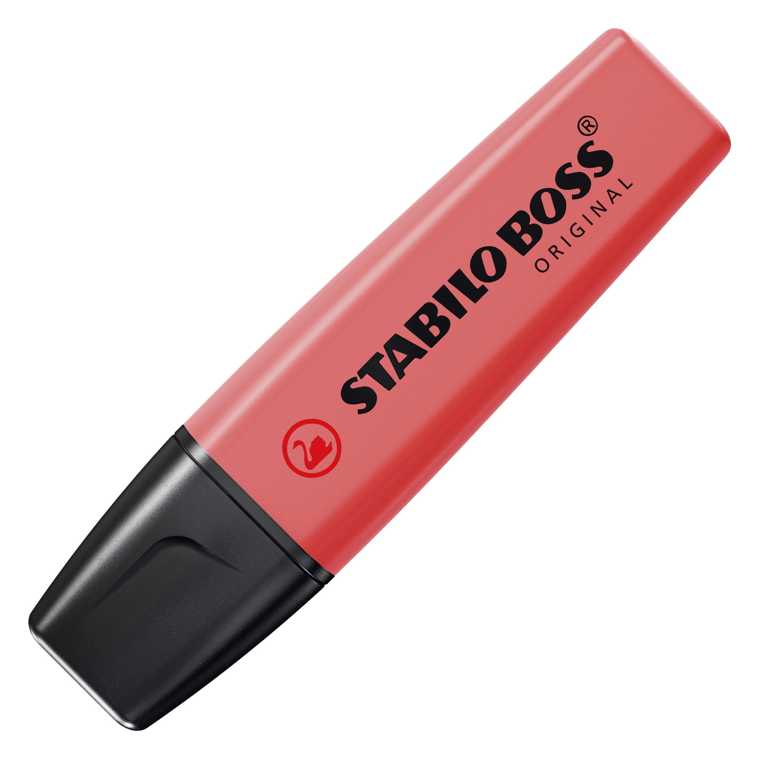 Stabilo 70/4-40 Boss Original - Marcadores fluorescentes recargables (4 unidades), color rojo: Amazon.es: Oficina y papelería