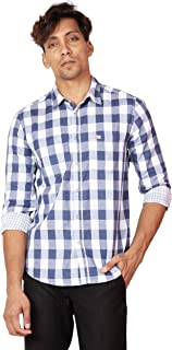 TORCY Men's Regular Fit Checked and Reversible Casual Shirt