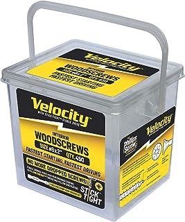 155 Interior Screws in 7 Popular Sizes /& 2 PSD ACR Drive Bits Velocity Portable Wood Screw Assortment Kit