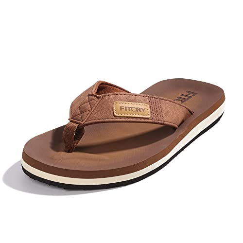 753c60460 FITORY Men s Flip-Flop Thong Sandals Light Weight Beach Slippers Size ...