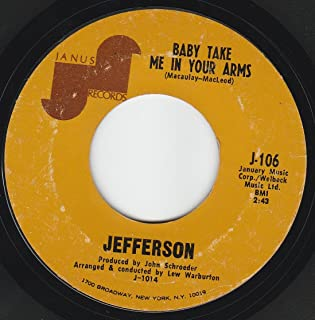 45vinylrecord Baby Take Me In Your Arms/I Fell Flat On My Face (7