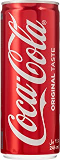 Coca-Cola Original Taste Soft Drink in Can, 245 ml (Pack of 6)