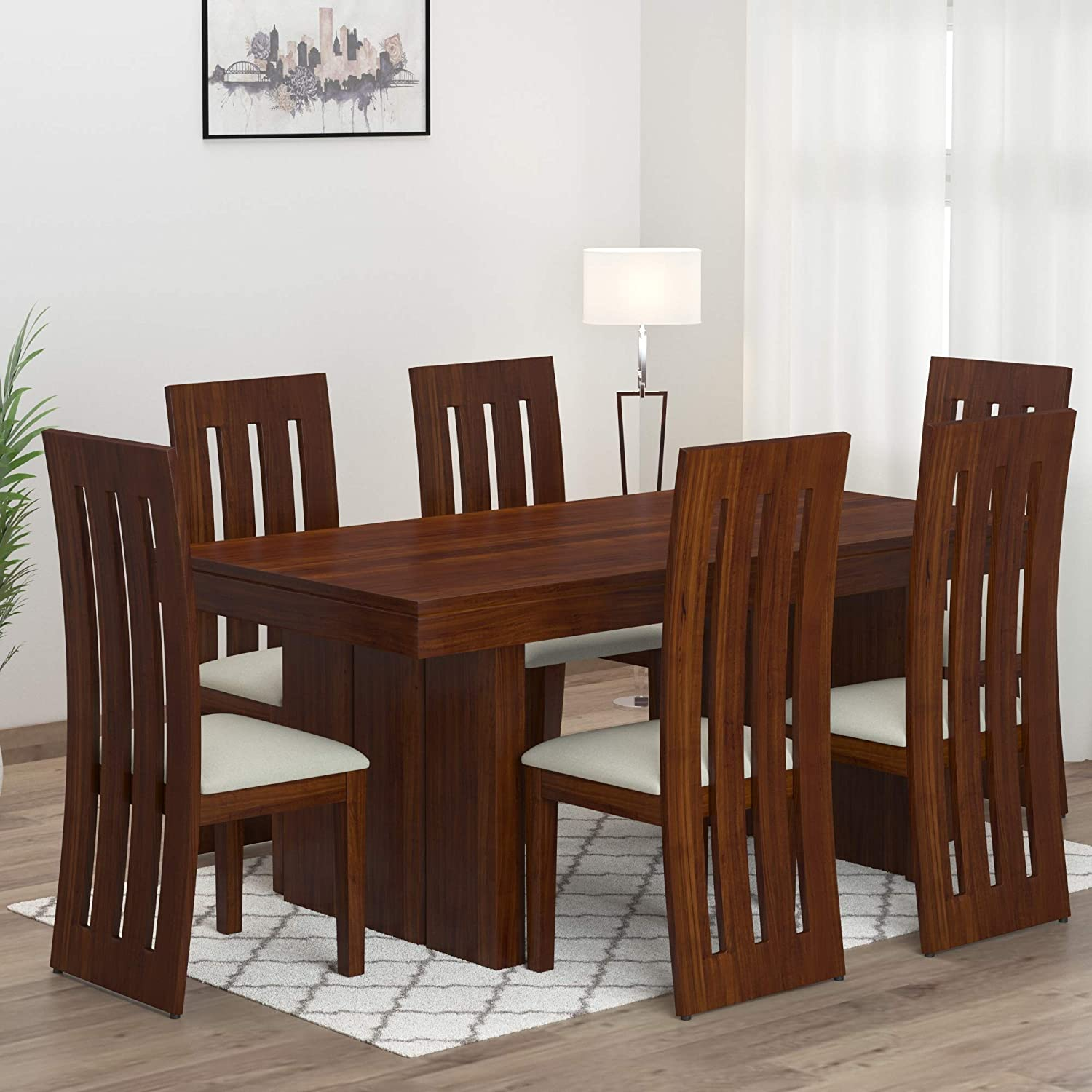 Mamta Decoration Sheesham Wood Dining Table Set with 9 Chair for Living  Room Teak Finish