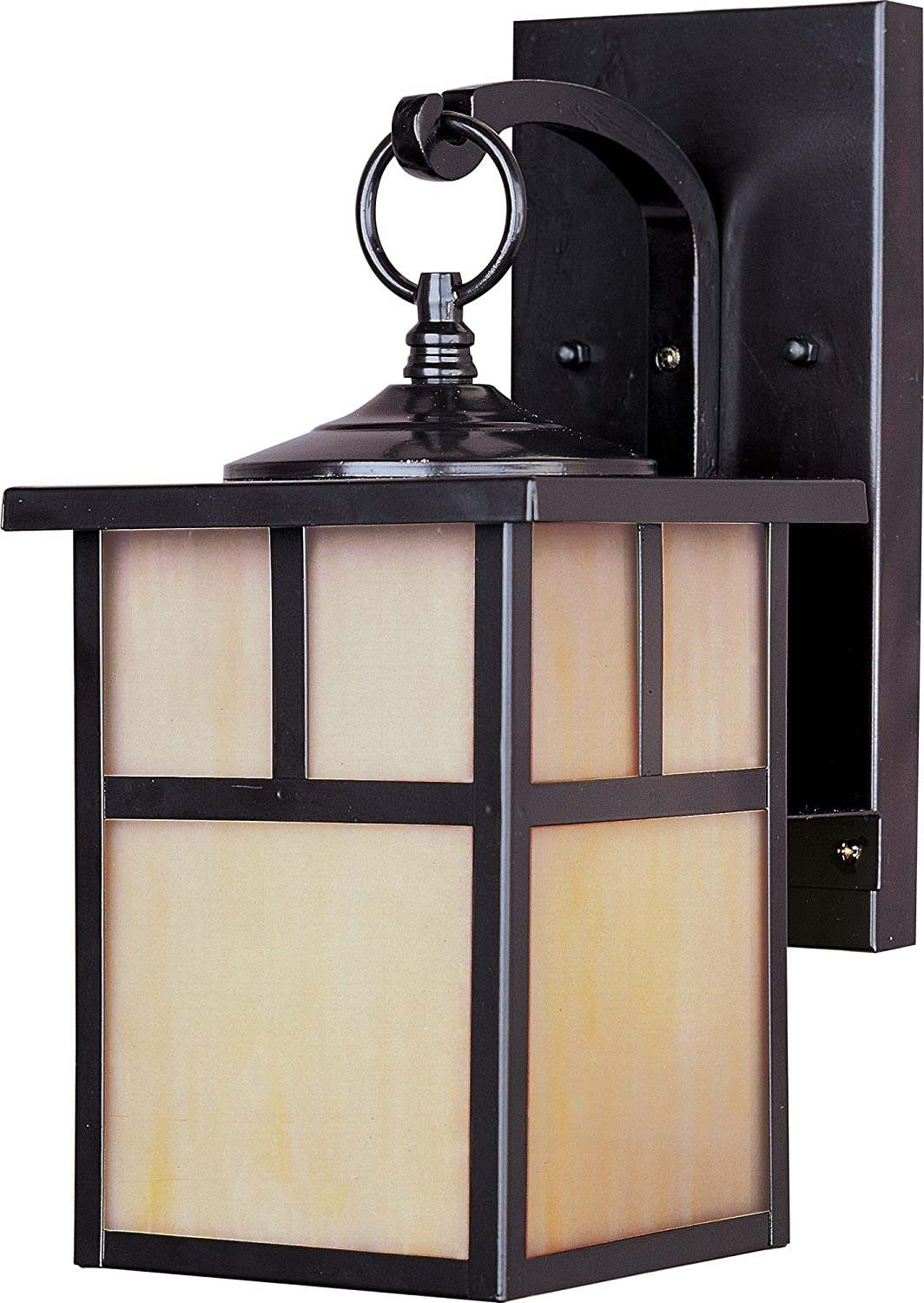 Maxim 4053HOBU Coldwater 1-Light Outdoor Wall Lantern, Burnished Finish, Honey Glass, MB Incandescent Incandescent Bulb , 100W Max., Dry Safety Rating, Standard Dimmable, Glass Shade Material, 5750 Rated Lumens