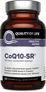 Powerful CoQ10 Supplement–Sustained Released MicroActive CoQ10 for Enhanced Absorption – 100mg of CoQ10 Per...