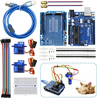 WayinTop Cat Toy Automatic DIY Kit with Tutorial for Arduino UNO, R3 Board with 1.5M USB Cable + R3 Expansion Board with M...