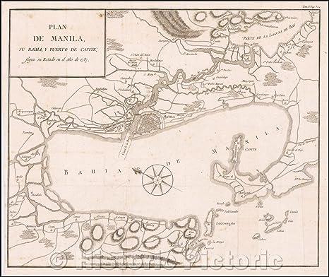 Amazon Com Historic Map Plan De Manila Su Bahia Y Puerto De Cavite Segun Su Estado En El Ano De 1787 Duque De Almodovar S Map Of Manila Bay 1790 Vintage Manila is distributed into 16 territorial districts, which are all original towns except one, the port area district. duque de almodovar s map of manila bay