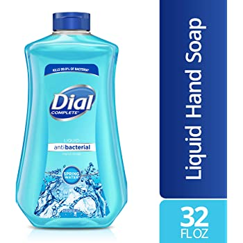 Dial Antibacterial Liquid Hand Soap Refill, Spring Water, 32 Fluid Ounces