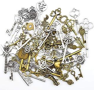comprar comparacion Antiguo esqueleto clave encantos colgantes para hacer a mano suministros hallazgos que hacen accesorio bricolaje collar pu...
