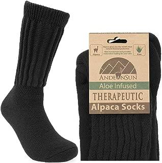CARING WARM THERAPEUTIC Alpaca Socks FOR POOR CIRCULATION - NON-IRRITATING SMOOTH SEAM