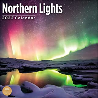 2022 Northern Lights Wall Calendar by Bright Day, 12 x 12 Inch, Aurora Borealis