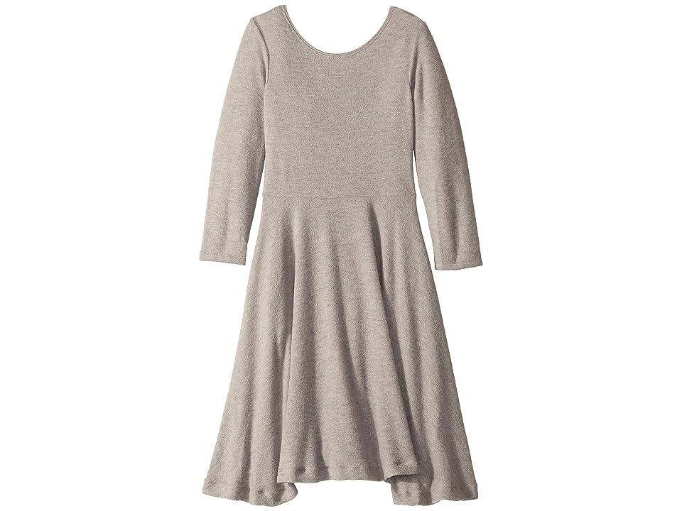 fiveloaves twofish Knit Ballerina Skater Dress (Big Kids) (Grey) Girl