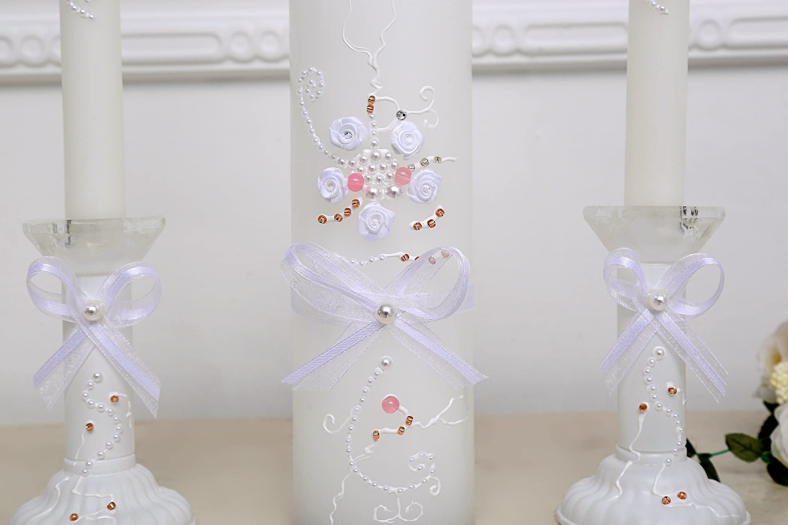 Personalised Cinderella Wedding Civil Ceremony Unity Candle Set Gift Keepsake
