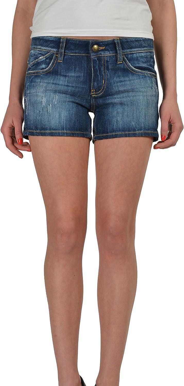 Just Cavalli Stonewashed Distressed Women's Denim Shorts US 4 IT 26
