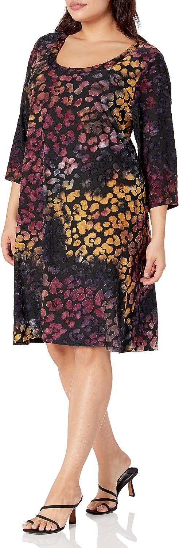 Karen Kane Women's Plus Size Tie Dye Burnout Dress