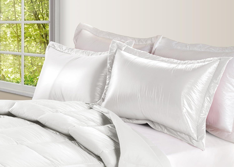 PUFF Ultra Light Nylon Sham White 2-PK King 2021 new Solid Large-scale sale
