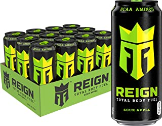 Reign Total Body Fuel, Sour Apple, Fitness & Performance Drink, 16 oz (Pack of 12)