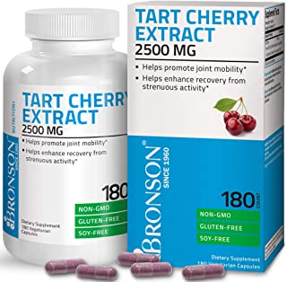 Sponsored Ad - Bronson Tart Cherry Extract 2500 mg Vegetarian Capsules with Antioxidants and Flavonoids Non-GMO, 180 Count