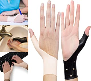 EXCELYFE Premium 4 Piece Black & Nude Color Gel Wrist & Thumb Support Braces For Right & Left Hand| Relieves Wrist & Thumb Pain Including Arthritis,Rheumatism,Carpal Tunnel |For Everyday Use or Sports