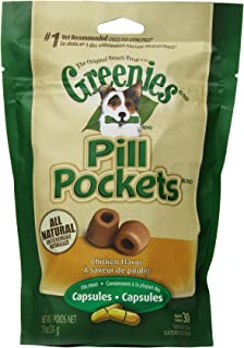 GREENIES 6-Pack Pill Pockets for Dogs, Chicken Flavor - 7.9-Ounce