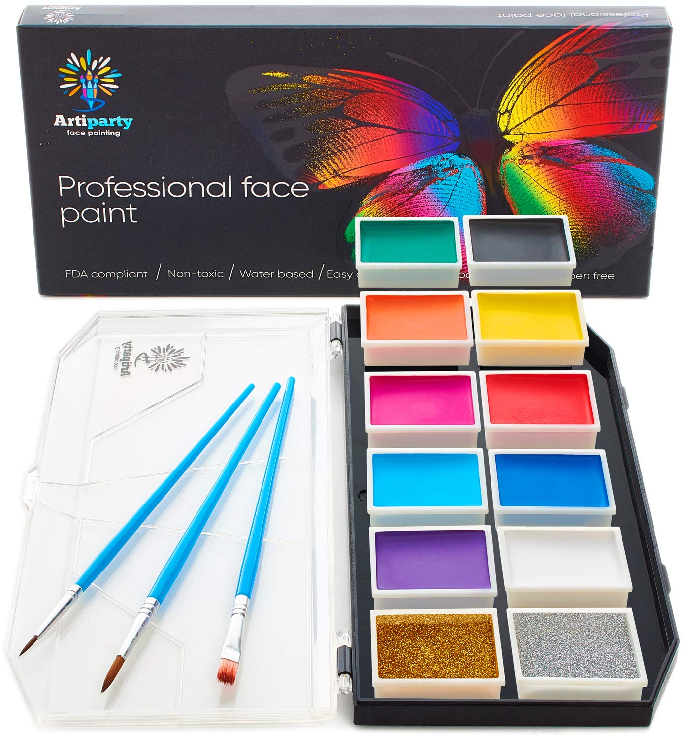 Face Paint Kit Hypoallergenic Professional